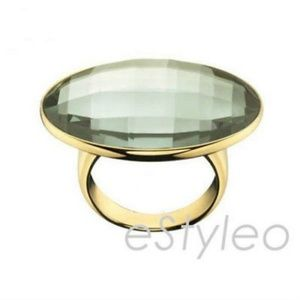 Calvin Klein Women Stainless Steel Ring White Onyx